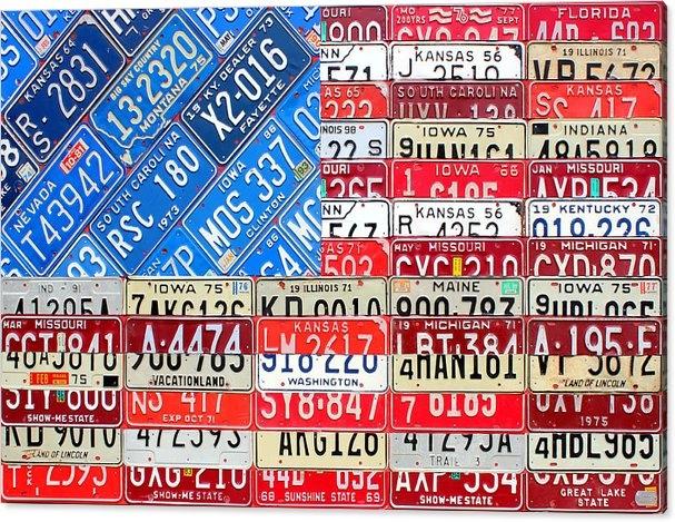 Design Turnpike - American Flag Recycled Li... Print