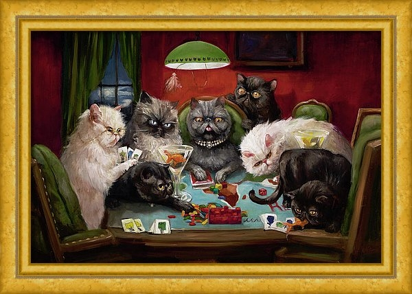 Margot King - Risk, Cats And Martinis Print