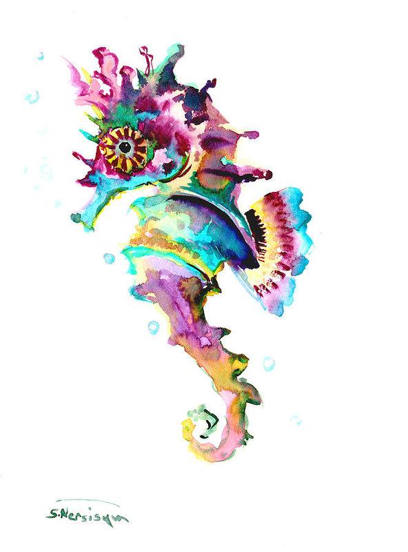 Suren Nersisyan - Baby Seahorse Print