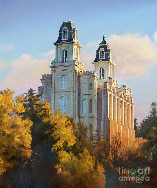 Rob Corsetti - Manti temple tall Print