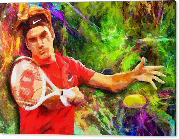 RochVanh - Roger Federer Print