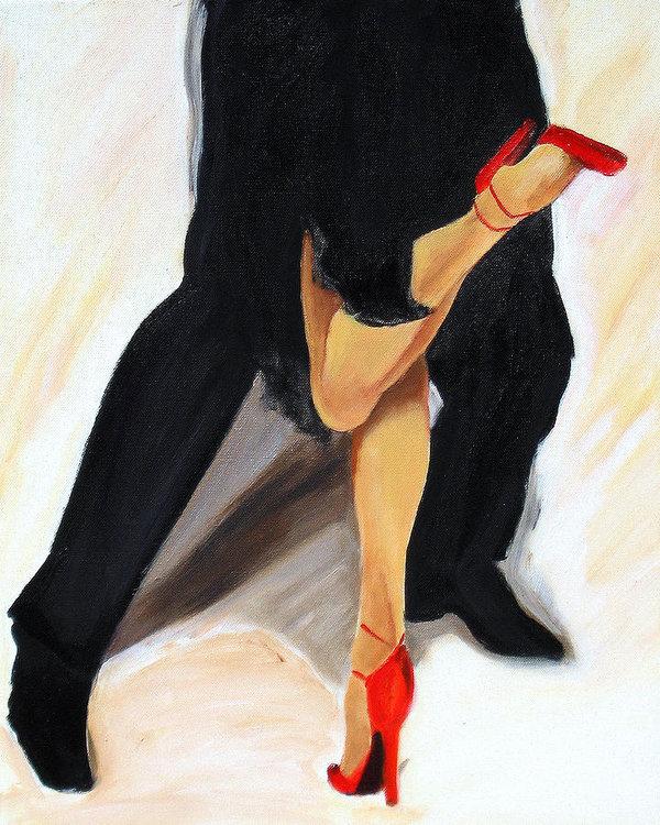Sheri  Chakamian - Dancing Legs II Print