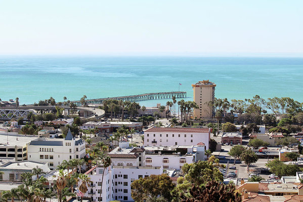 Art Block Collections - Ventura Coastal View Print