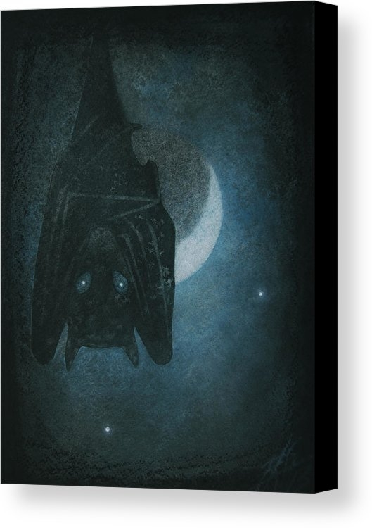Robin Street-Morris - Bat with Crescent Moon Print