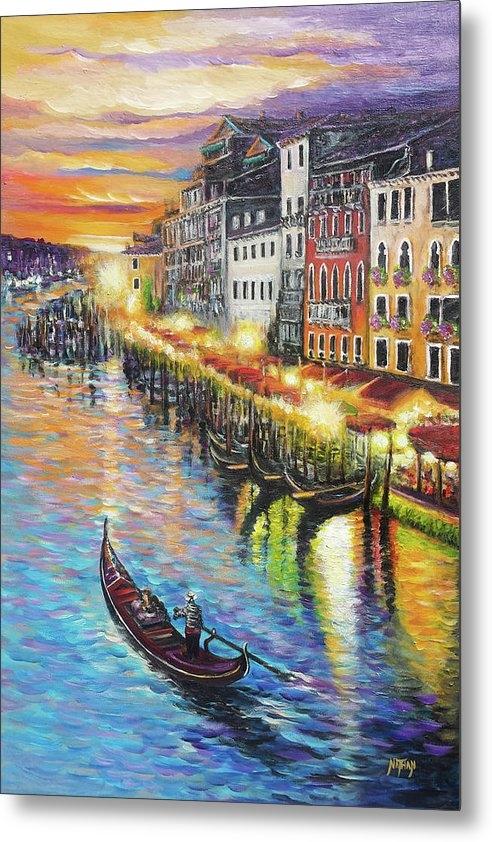Nathan Lewis - Romantic Venice Sunset Print