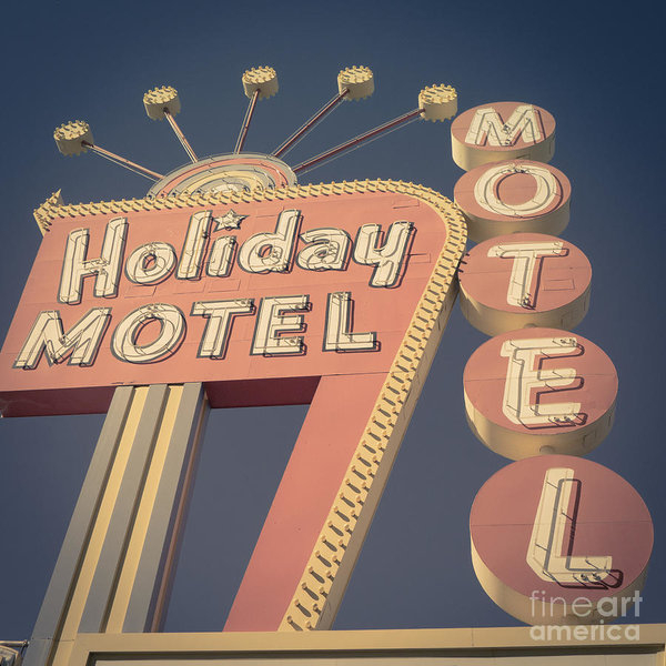 Edward Fielding - Vintage Motel Sign Square