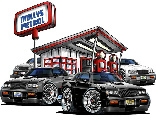 Maddmax - Buicks at Mollys Gas Station