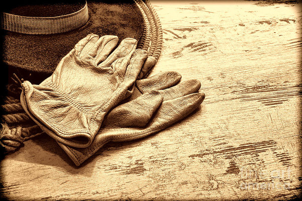 American West Legend By Olivier Le Queinec - The Cowboy Gloves