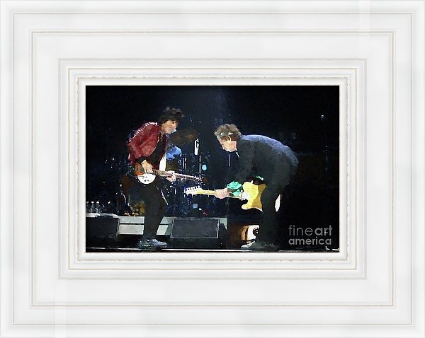 Concert Photos - Rolling Stones Ron Wood Keith Richards Painting