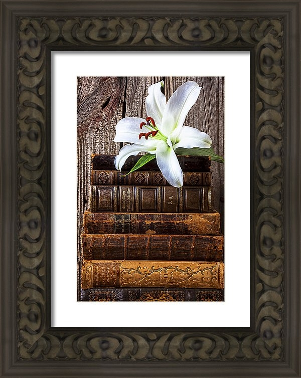 Garry Gay - White lily on antique books