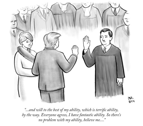 Paul Noth - Trump Being Sworn Into Office