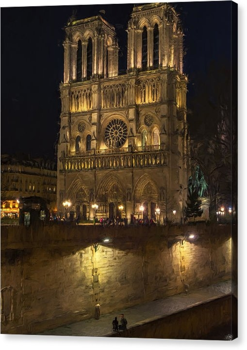 Joan Carroll - Notre Dame Night Painterly