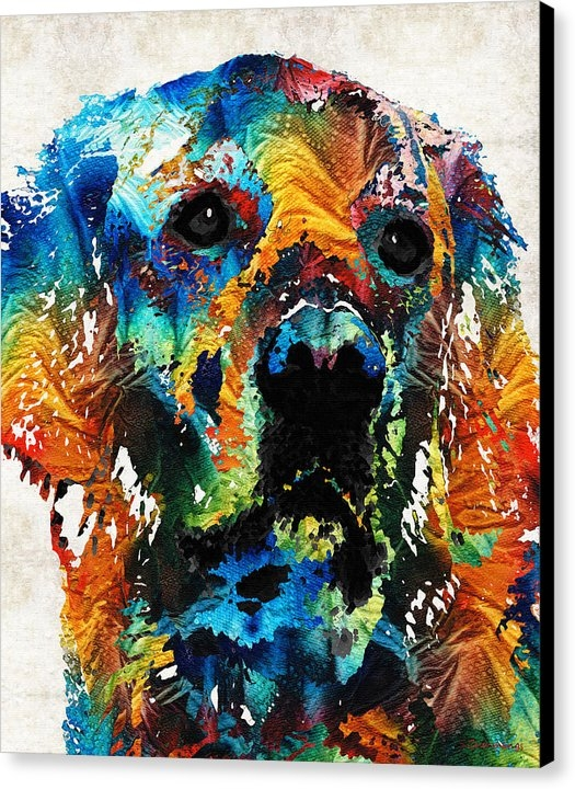 Sharon Cummings - Colorful Dog Art - Heart And Soul - By Sharon Cummings