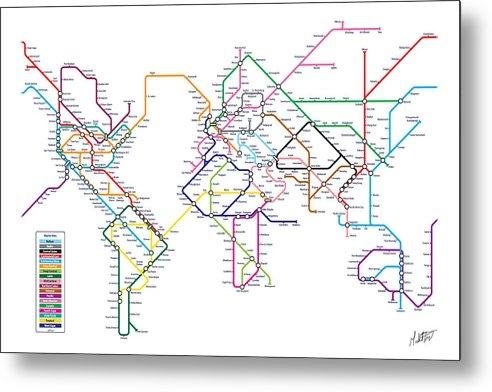 Michael Tompsett - World Metro Tube Subway Map