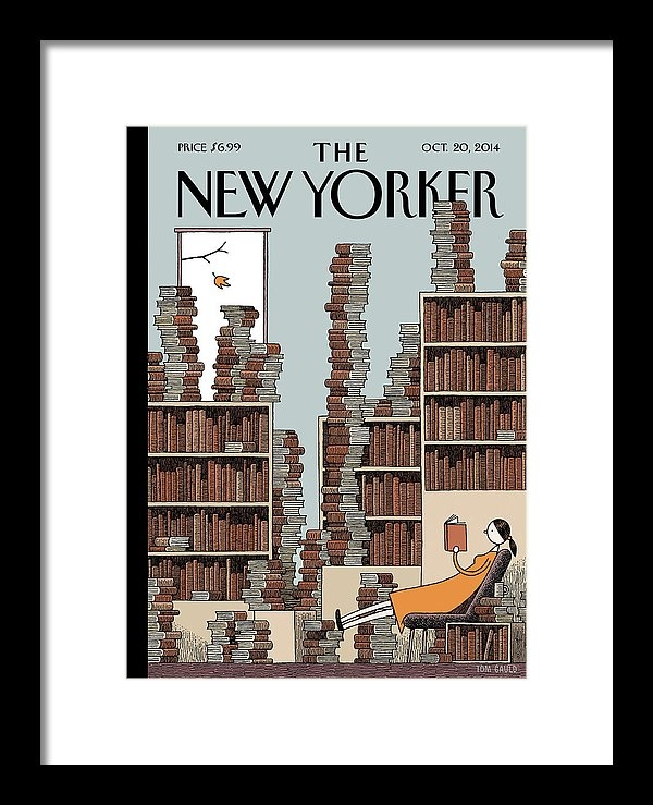 Tom Gauld - A Woman Reclines In A Room Full Of Books