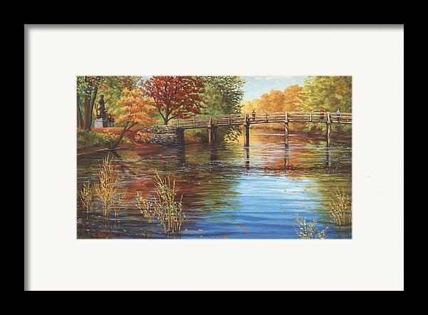 Elaine Farmer - Water Under the Bridge, Old North Bridge, Concord, MA