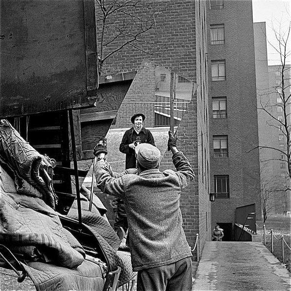 David Lee Guss - Vivian Maier self portrait probably taken in Chicago Illinois 1955