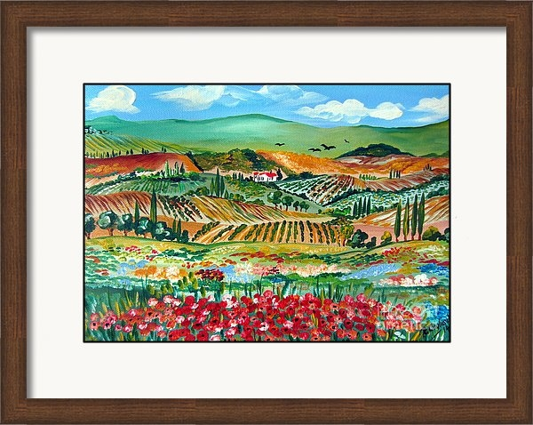 Roberto Gagliardi - Poppies in Chianti Tuscany