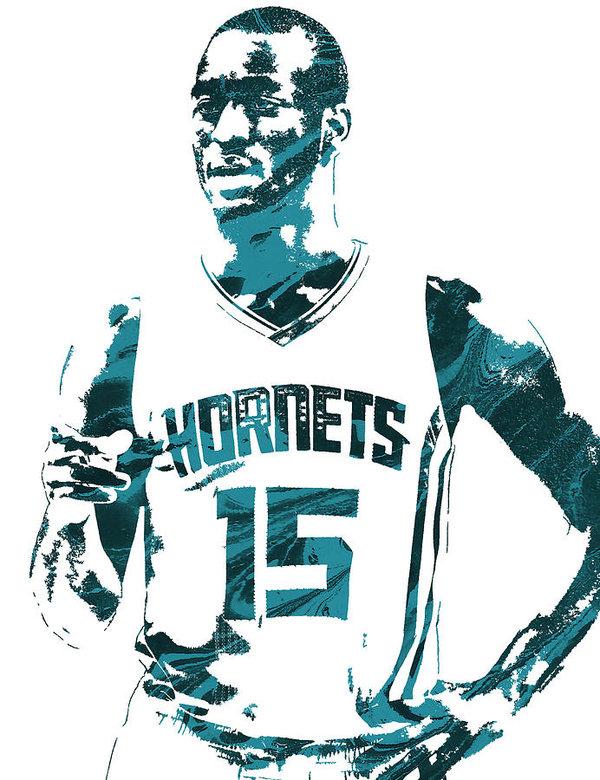 Joe Hamilton - Kemba Walker Charlotte Hornets Pixel Art 4