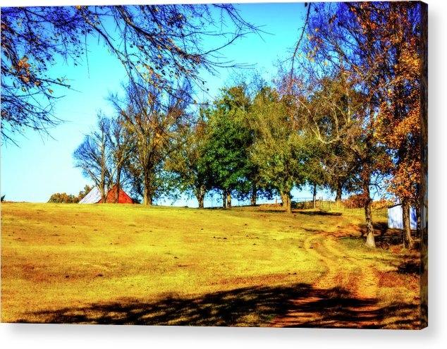 Barry Jones - Farm Road - Fall Landscape