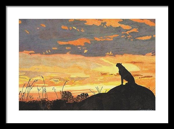 Cassandra Scott - Sunset Cheetah
