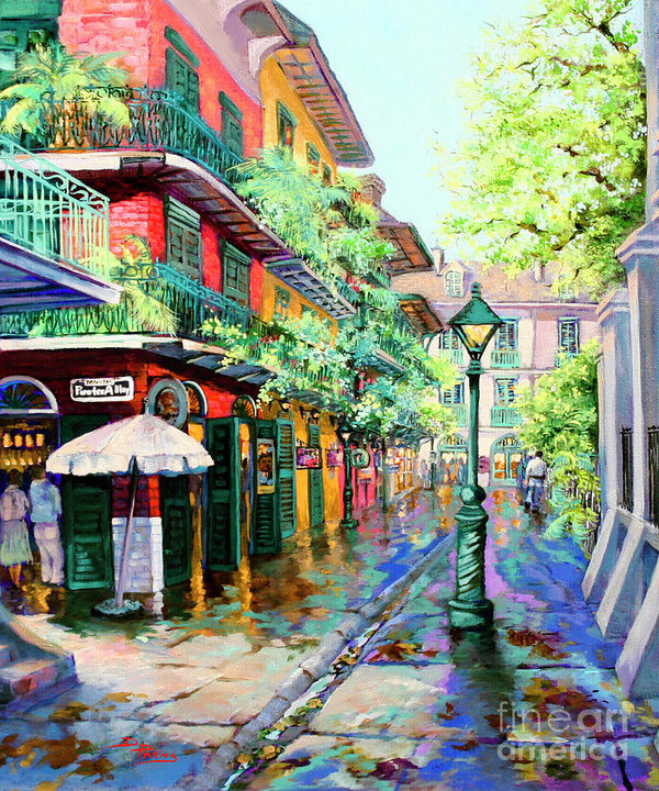 Dianne Parks - Pirates Alley - French Quarter Alley
