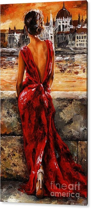 Emerico Imre Toth - Lady in red  34 -  I love Budapest