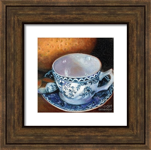 Marlene Book - Blue and White Teacup with Spoon