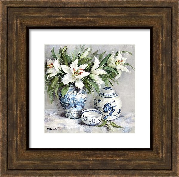 Gail McCormack - Lilies with Blue and White China