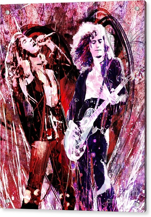 Ryan Rock Artist - Led Zeppelin - Jimmy Page and Robert Plant
