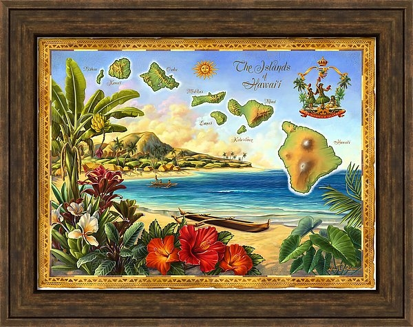 Anne Wertheim - Vintage Map of Hawaii