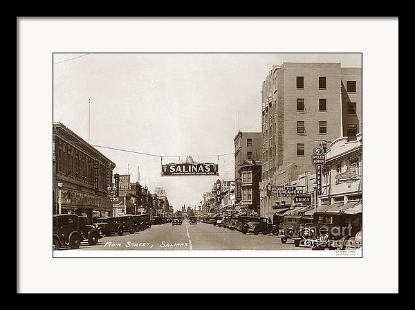 California Views Mr Pat Hathaway Archives - Main and E. Alisal Streets Salinas Circa 1931