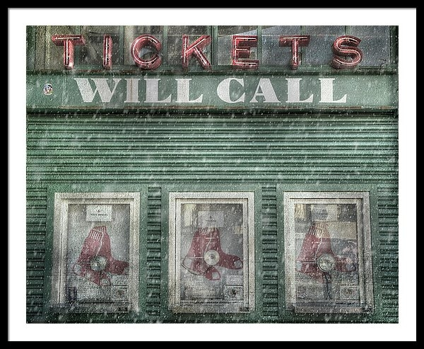Joann Vitali - Boston Red Sox Fenway Park Ticket Booth in Winter