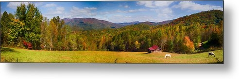 John Haldane - Western North Carolina Horses and Mountains Panorama