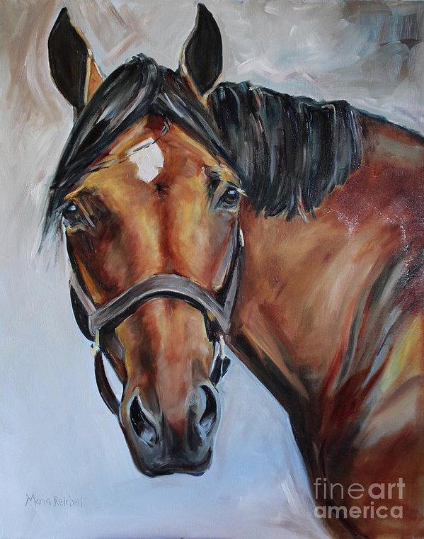 Maria's Watercolor - Brown Horse