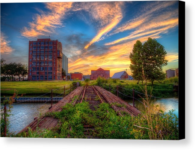 Micah Goff - Sunset at The Imperial Sugar Factory Early Stage Landscape
