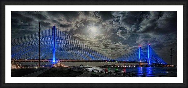 Bill Swartwout - Indian River Bridge Moonlight Panorama