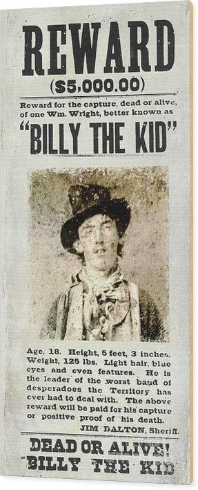 Jon Neidert - Billy the Kid Wanted Poster