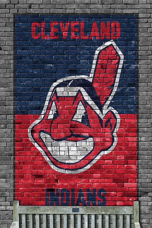 Joe Hamilton - Cleveland Indians Brick Wall