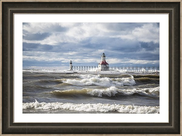 John McGraw - St Joseph Lighthouse on Windy Day