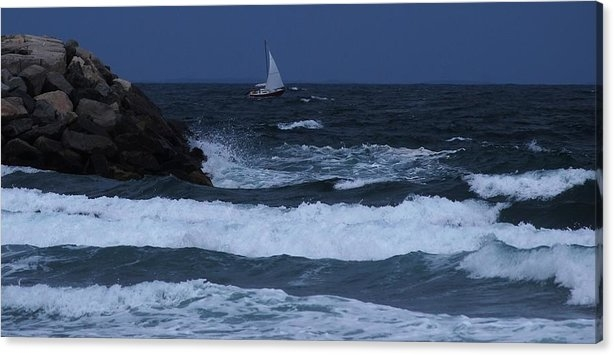 Bill Driscoll - Sailboat in Rough Water