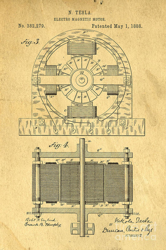 Edward Fielding - Nikola Tesla Coil Patent Art