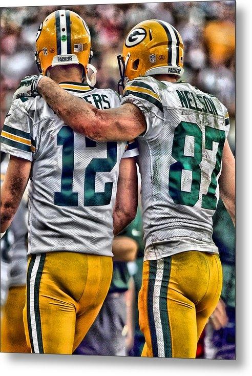Joe Hamilton - Aaron Rodgers Jordy Nelson Green Bay Packers Art