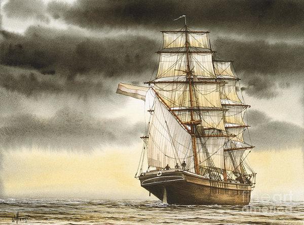 James Williamson - Wooden Brig Under Sail
