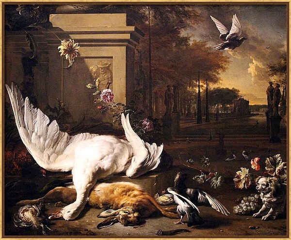 Cora Wandel - Weenix's Still Life With Swan And Game Before A Country Estate