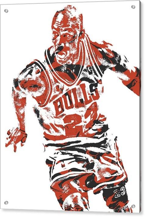 Joe Hamilton - Michael Jordan CHICAGO BULLS PIXEL ART 15