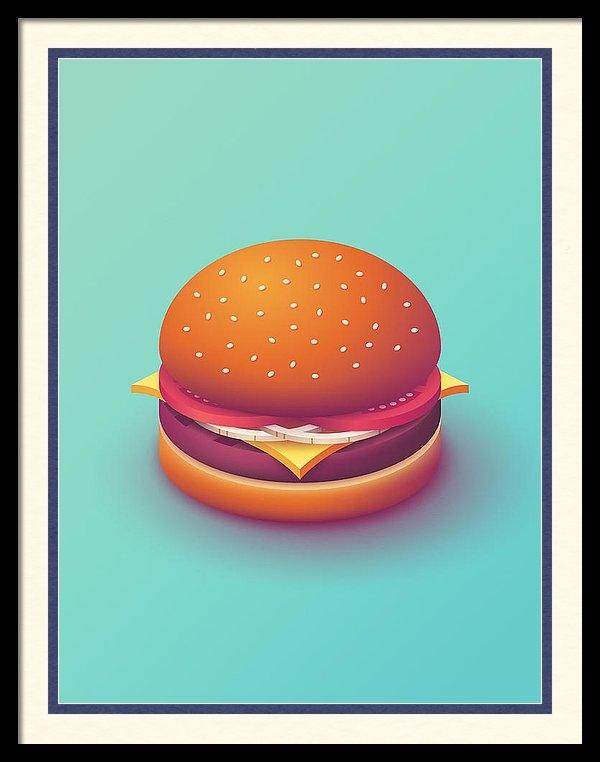 Ivan Krpan - Burger Isometric - Plain Mint