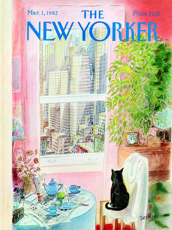 The New Yorker Cover - March 1, 1982 by Jean-Jacques Sempe