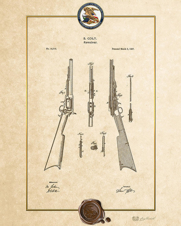 Serge Averbukh - Repeating Rifle Lubrication Method by S. Colt - Vintage Patent Document