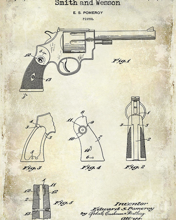 Jon Neidert - 1937 Smith and Wesson Firearm Patent Drawing